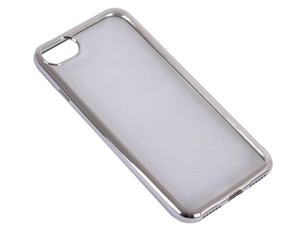 Силиконовый чехол с рамкой для iPhone 7 DF iCase-08 (silver) стоимость