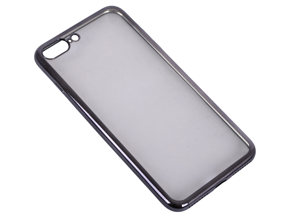 Силиконовый чехол с рамкой для iPhone 7 Plus DF iCase-09 (black) аксессуар чехол для apple iphone 7 plus 8 plus df silicone super slim icase 07