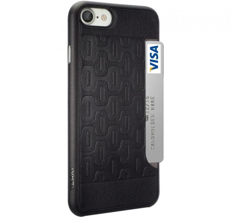 Накладка Ozaki 0.3 + Pocket для iPhone 7 чёрный OC737BK накладка ozaki 0 3 pocket для iphone 7 чёрный oc737bk