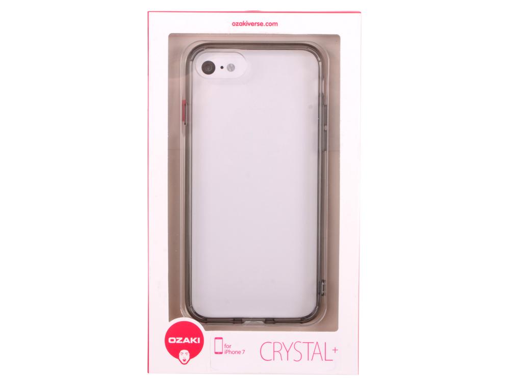 Накладка Ozaki O!coat Crystal+ для iPhone 7 прозрачный чёрный OC739BK накладка ozaki 0 3 pocket для iphone 7 чёрный oc737bk