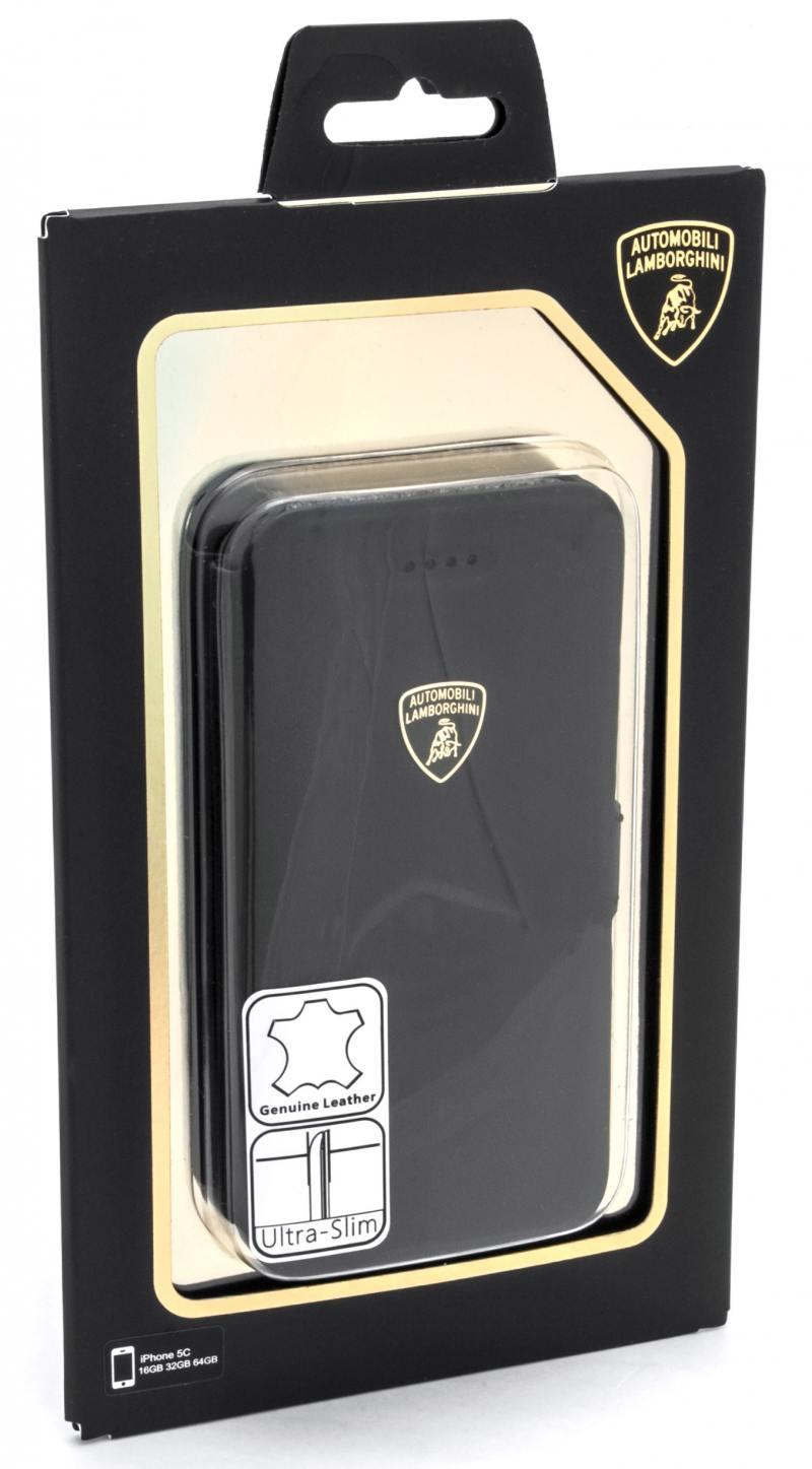 Чехол-книжка iMOBO Lamborghini Diablo для iPhone 5C чёрный
