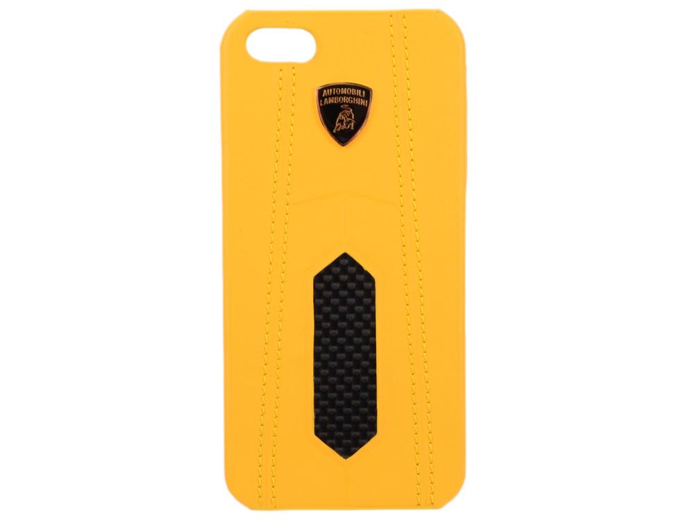 Чехол (клип-кейс) iMOBO Lamborghini Aventador-D2 для iPhone 5 iPhone 5S желтый чёрный