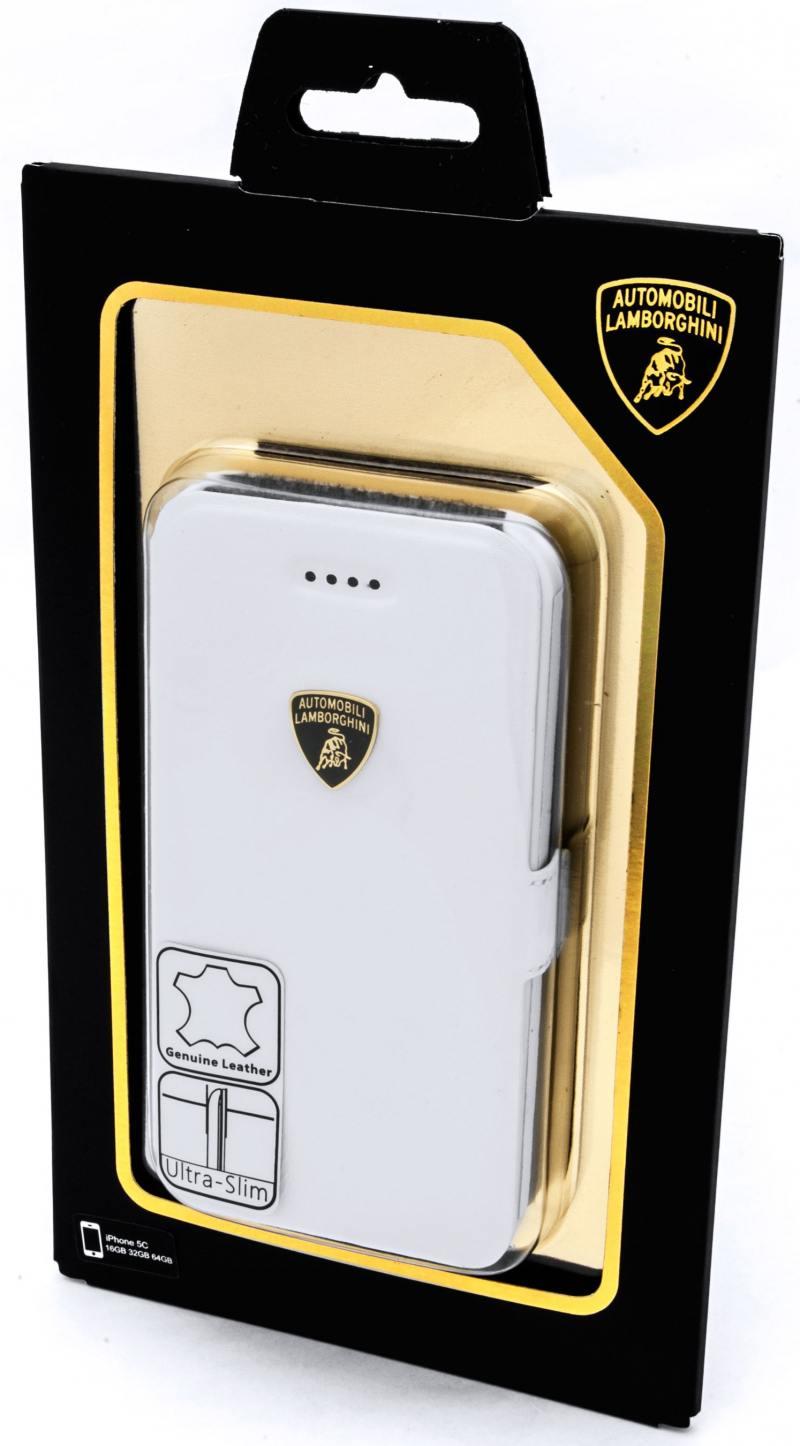 Чехол-книжка iMOBO Lamborghini Diablo для iPhone 5C белый чехол для iphone 5c puro color clear cover белый ipccclearwhi