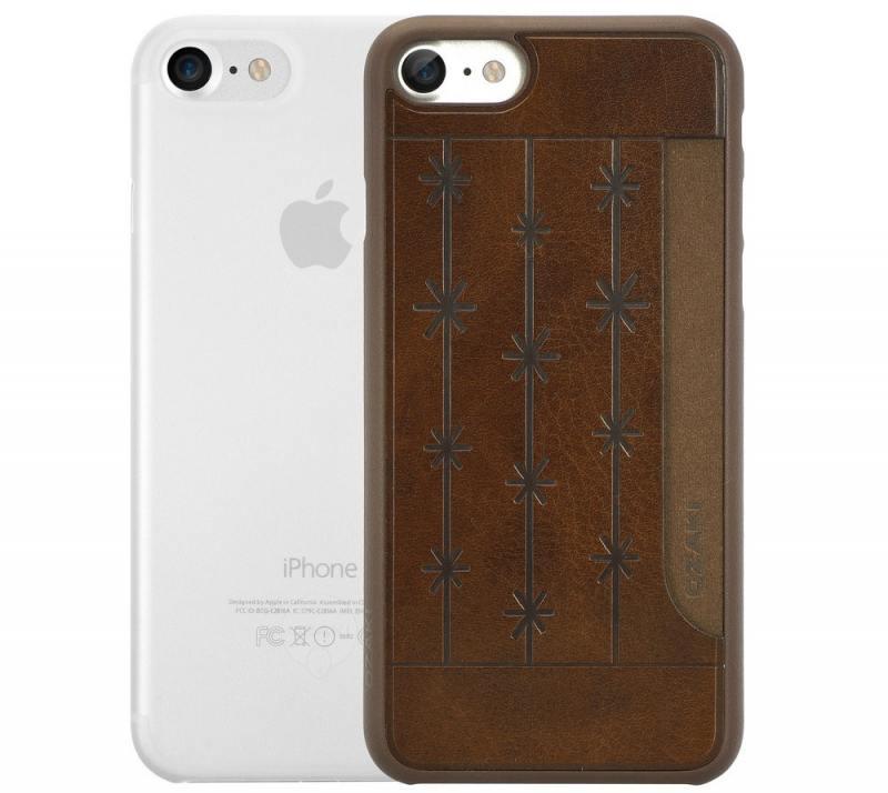 Набор чехлов Ozaki Jelly и Ozaki Pocket для iPhone 7 прозрачный коричневый OC722BC