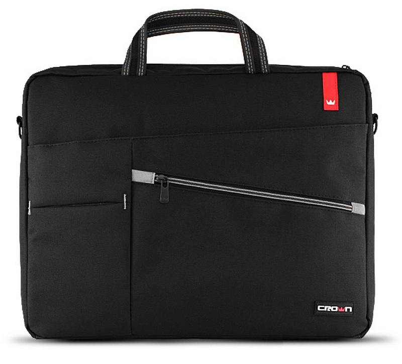 Сумка для ноутбука 17 Crown CMB-558 синтетика черный