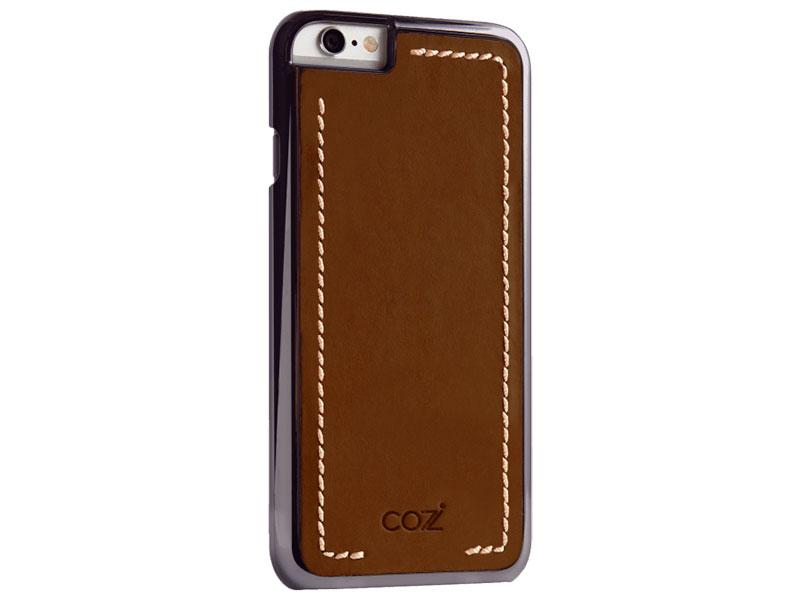 все цены на Чехол Cozistyle Leather Chrome Case для iPhone 6s черно-коричневый CLCC61220 онлайн