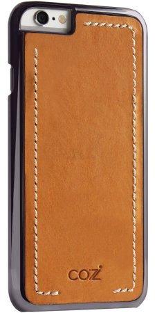 Фото Чехол Cozistyle Leather Chrome Case для iPhone 6s черно-коричневый CLCC61820 накладка cozistyle leather wrapped case для iphone 6s коричневый clwc6012