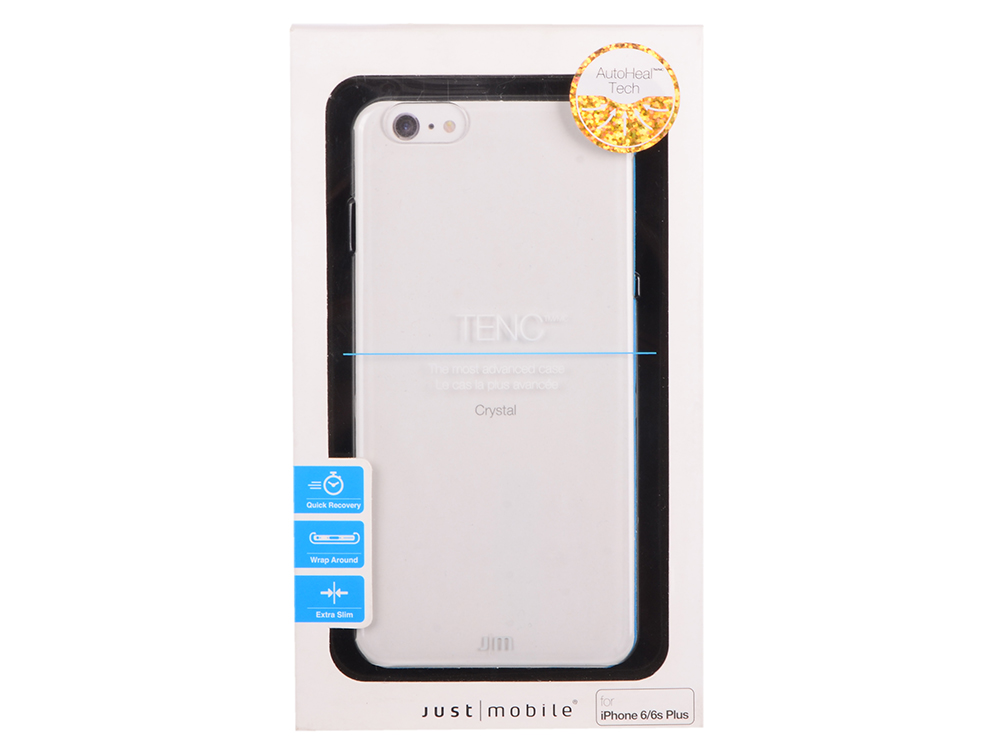 Накладка Just Mobile TENC для iPhone 6/6S Plus прозрачный PC-169CC накладка just mobile quattro air для iphone x чёрный pc 388bk