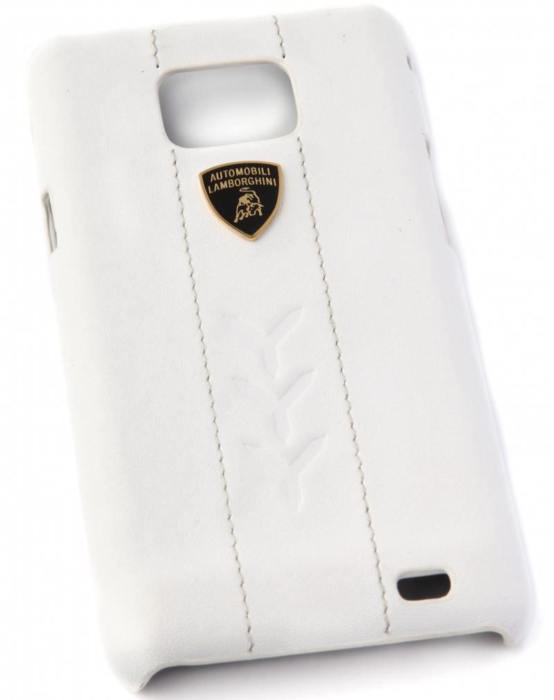 Кожаный клип-кейс для Samsung Galaxy S2 Lamborghini Performate-D1 (белый) цена и фото