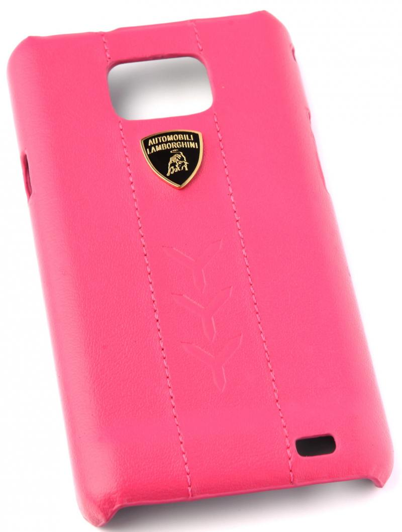 Кожаный клип-кейс для Samsung Galaxy S2 Lamborghini Performate-D1 (розовый) кожаный клип кейс для samsung galaxy s3 lamborghini performate d1 серый