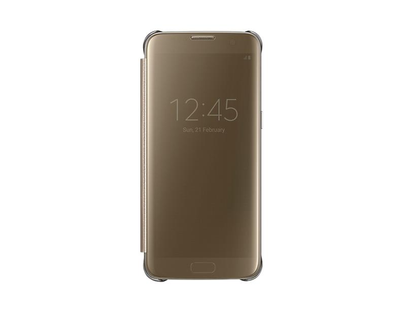 Чехол Samsung EF-ZG935CFEGRU для Samsung Galaxy S7 edge Clear View Cover золотистый чехол для смартфона samsung для galaxy s7 edge clear view cover серебристый ef zg935csegru ef zg935csegru
