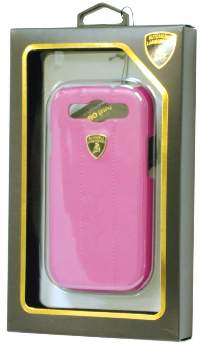 цена на Кожаный клип-кейс для Samsung Galaxy S3 Lamborghini Performate-D1 (розовый)