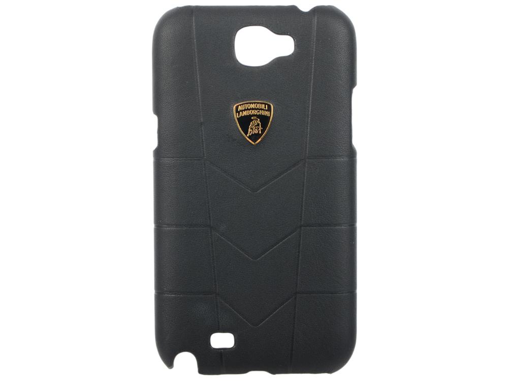 Кожаный клип-кейс для Samsung Galaxy Note II Lamborghini Aventador черный цена и фото