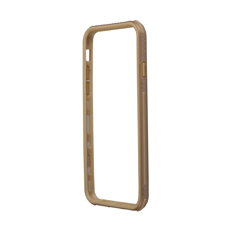 бампер puro bumper для iphone 6 бирюзовый ipc647bumperacqua Бампер для iPhone 6/6s HOCO Shock Proof Silicon Bumper Case (золотой) R0007516