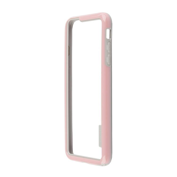 бампер puro bumper для iphone 6 бирюзовый ipc647bumperacqua Бампер для iPhone 6/6s Plus HOCO Coupe Series Double Color Bracket Bumper Case (розовый) R0007621