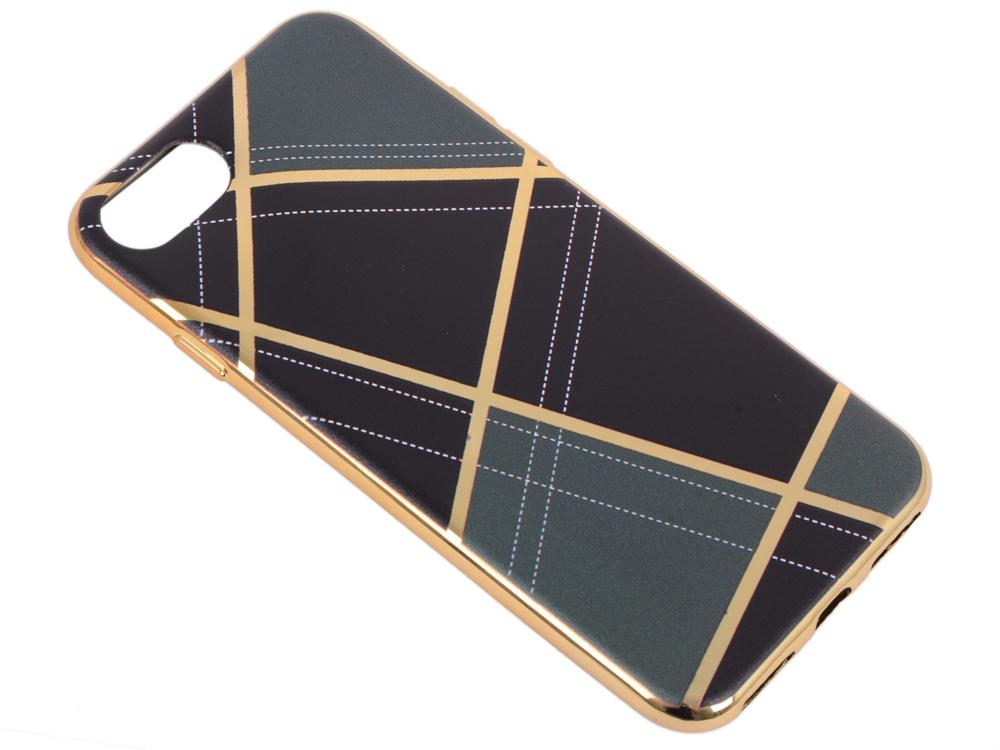 Силиконовый чехол для iPhone 7 TPU Клетка бежевая (золотой) 0L-00029560 силиконовый чехол для iphone 7 ударопрочный tpu armor case прозрачный 0l 00029776