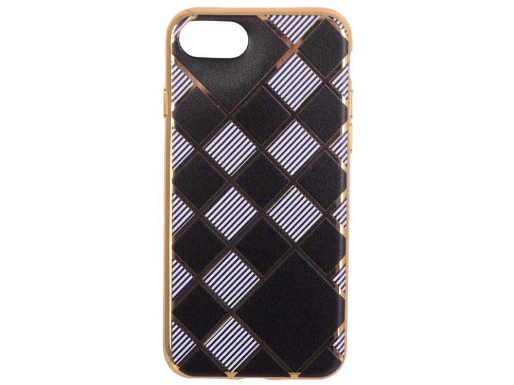 Силиконовый чехол для iPhone 7 TPU Клетка с полосками (золотой) 0L-00029551 силиконовый чехол для iphone 7 ударопрочный tpu armor case прозрачный 0l 00029776