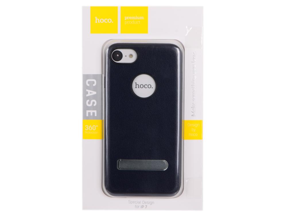 Фото - Чехол для смартфона iPhone 7 HOCO Simple Series Pago Bracket Cover (синий) 0L-00029276 накладка lp клетка с полосками для iphone 7 золотой 0l 00029551
