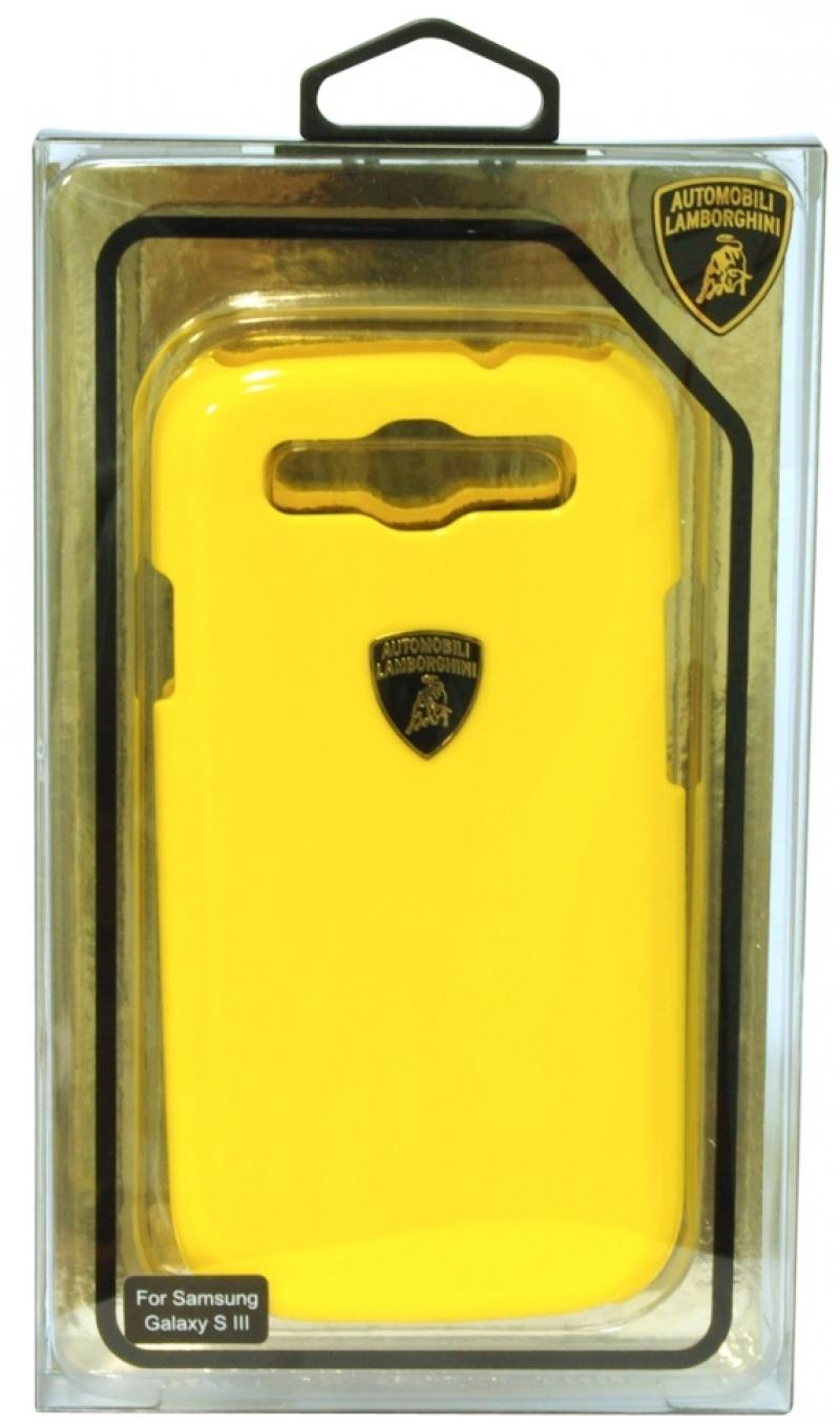 Пластиковый чехол Lamborghini Diablo для Samsung Galaxy S3 (желтый)