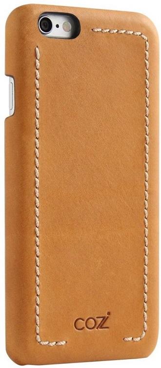цена на Накладка Cozistyle Leather Wrapped Case для iPhone 6S коричневый CLWC6018