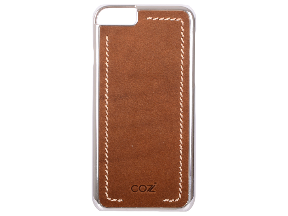 Накладка Cozistyle Leather Chrome Case для iPhone 6S коричневый серебристый CLCC6012 cozistyle cozistyle smart case для iphone 6 6s