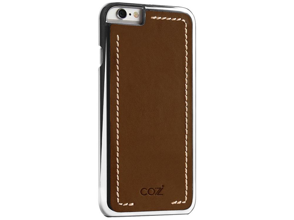 все цены на Чехол Cozistyle Leather Chrome Case для iPhone 6s серебристо-коричневый CLCC6018 онлайн