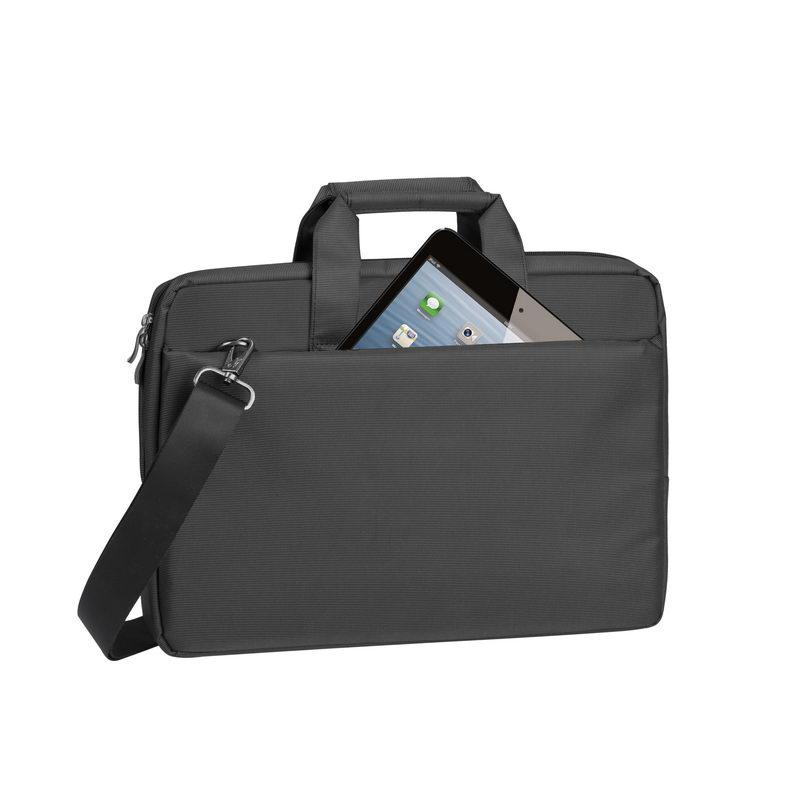 купить Сумка для ноутбука 15 Riva 8231 полиэстер черный онлайн