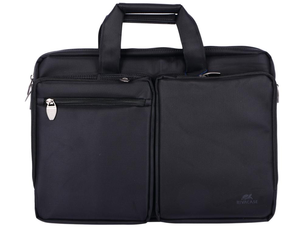 Сумка для ноутбука 16 Riva 8530 полиэстер черный сумка для ноутбука 16 defender shiny синтетика полиэстер черный 26097