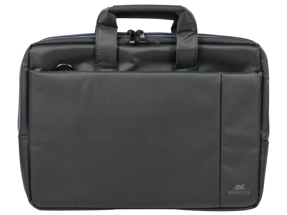 Сумка для ноутбука 15 Riva 8231 полиэстер серый riva 8991 сумка для ноутбука 15 6 black