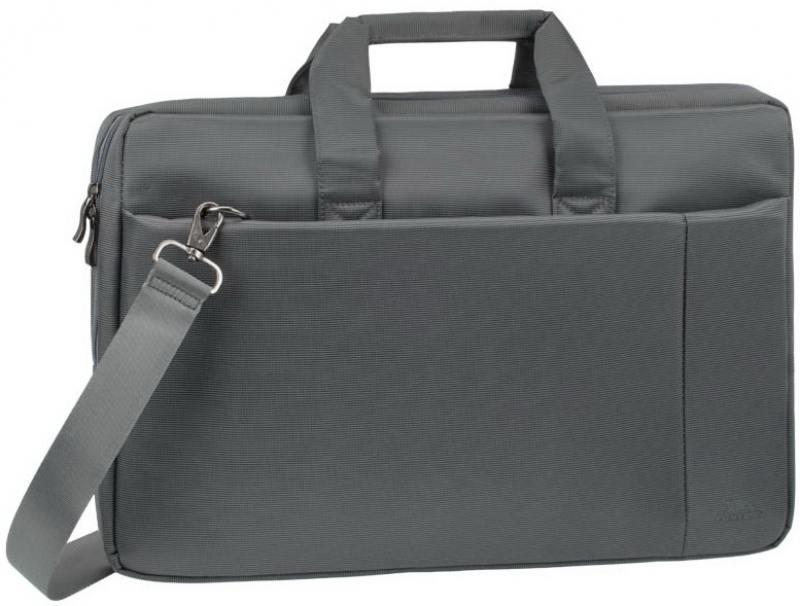 Сумка для ноутбука 17.3 Riva 8251 полиэстер серый