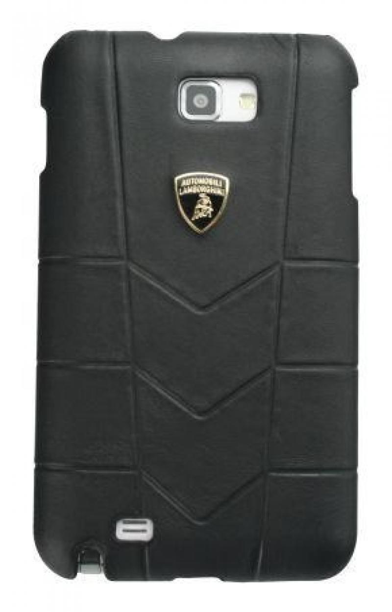 Кожаный клип-кейс для Samsung Galaxy Note Lamborghini Aventador-D1 (черный) кожаный клип кейс для samsung galaxy s3 lamborghini performate d1 серый