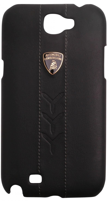 Кожаный клип-кейс для Samsung Galaxy Note II Lamborghini Performate-D1 (черный) цена и фото