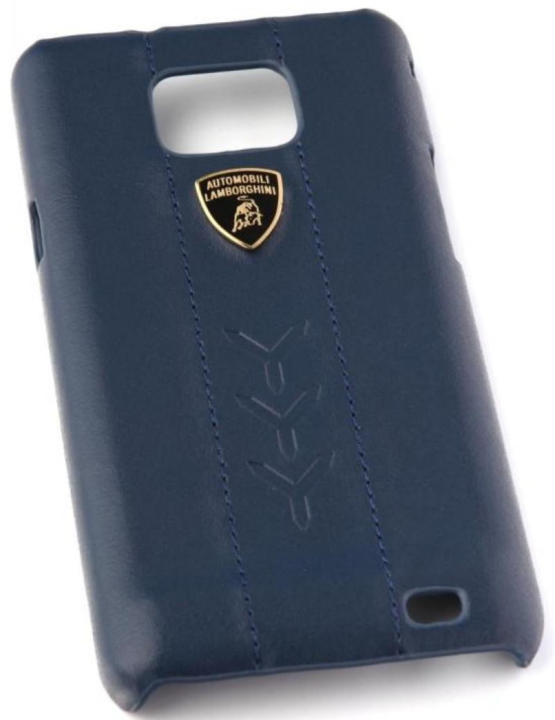 Кожаный клип-кейс для Samsung Galaxy S2 Performate-D1 Lamborghini (синий) кожаный клип кейс для samsung galaxy s3 lamborghini performate d1 серый