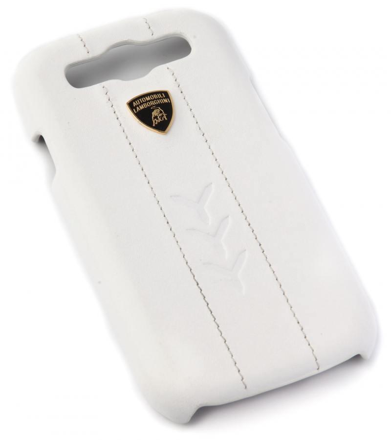Кожаный клип-кейс для Samsung Galaxy S3 Lamborghini Performate-D1 (белый)