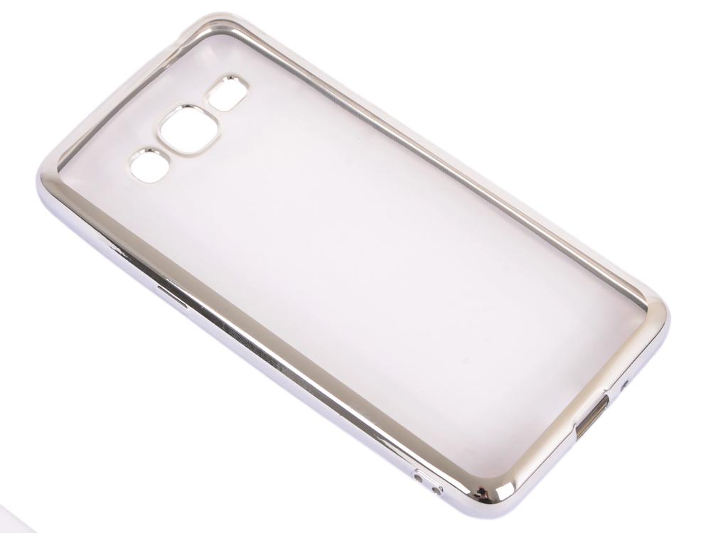 Силиконовый чехол с рамкой для Samsung Galaxy J2 Prime/Grand Prime (2016) DF sCase-36 (silver) высокие каблуки дизайн кожа pu откидная крышка бумажника карты держатель чехол для samsung galaxy core prime g360