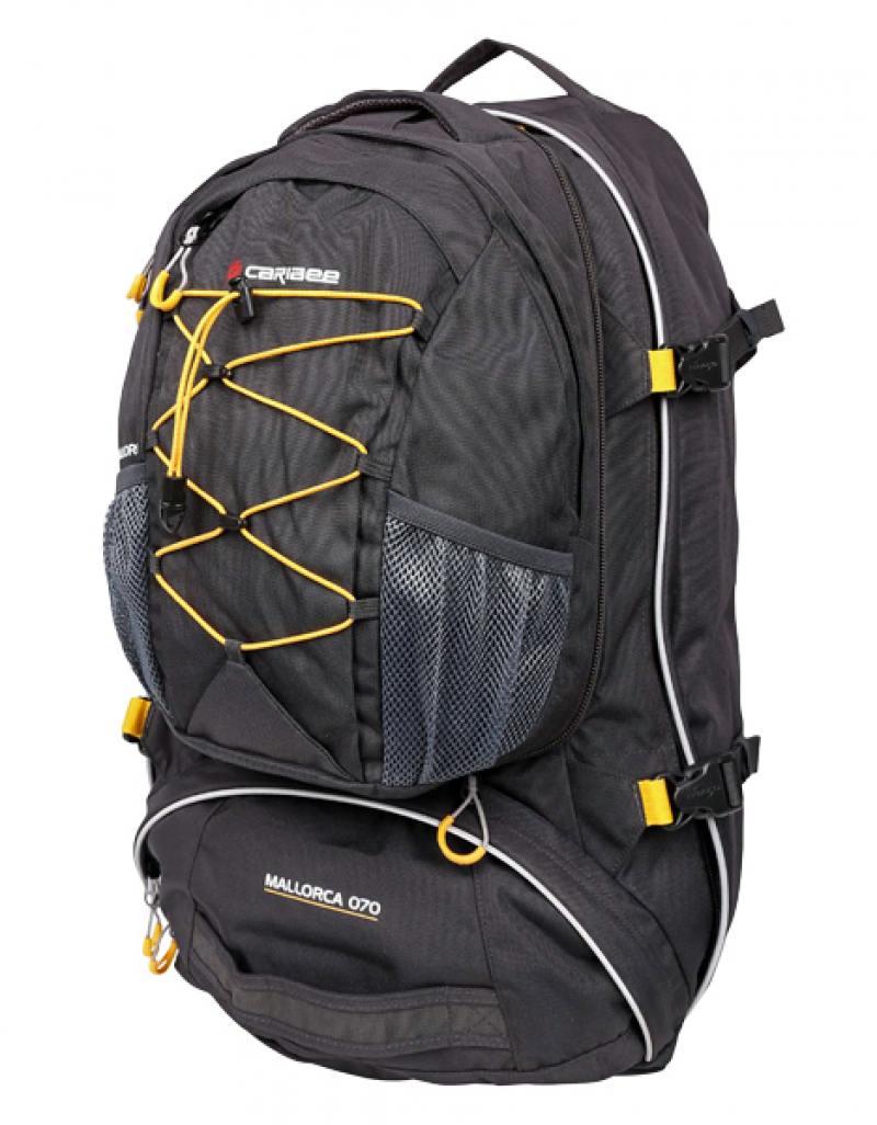 Рюкзак с анатомической спинкой Caribee Mallorca 70 л серый 6938 рюкзак с анатомической спинкой caribee x trek 28 28 л синий желтый 63821