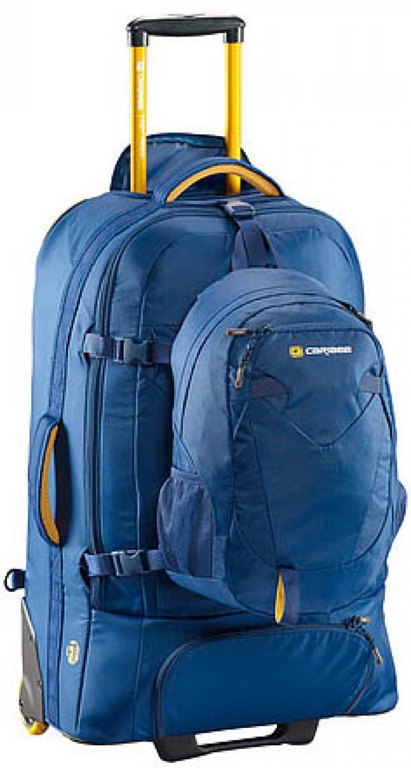 Рюкзак на колесах CARIBEE Fast Track 85 л голубой цена