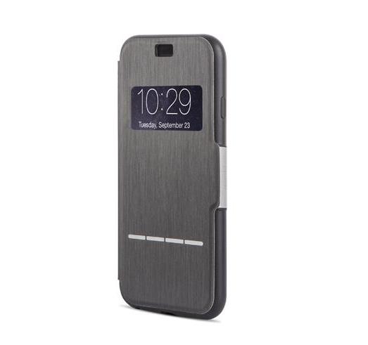 Чехол Moshi SenseCover для iPhone 6 из кожзаменителя. Цвет: Черный. чехол для iphone moshi sensecover steel black 99mo072004