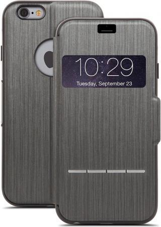 Чехол Moshi SenseCover для iPhone 6 Plus из кожзаменителя, Цвет: Черный. чехол книжка moshi sensecover для apple iphone 6 plus 6s plus