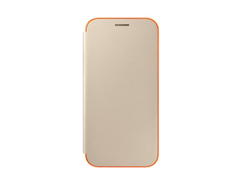Чехол Samsung EF-FA520PFEGRU для Samsung Galaxy A5 2017 Neon Flip Cover золотистый