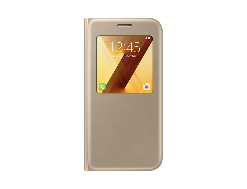Чехол Samsung EF-CA520PFEGRU для  Galaxy  2017  View Standing Cover золотистый