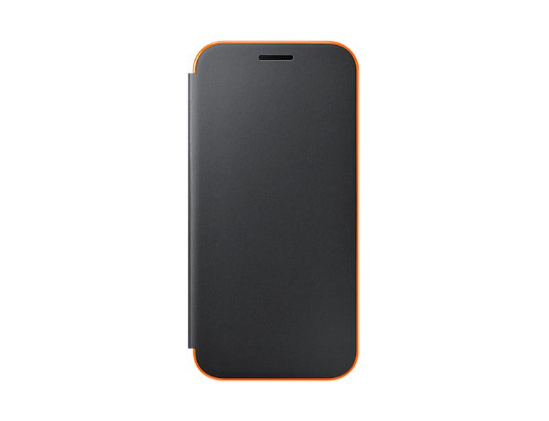 купить Чехол Samsung EF-FA320PBEGRU для Samsung Galaxy A3 2017 Neon Flip Cover черный недорого