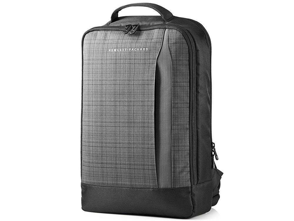 Рюкзак для ноутбука 15.6 HP F3W16AA Ultrabook Backpack синтетика серый-черный рюкзак для фотоаппарата cullmann lima backpack 200
