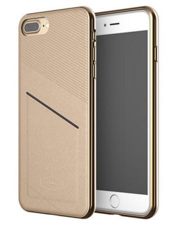 Чехол LAB.C Pocket Case для iPhone 7 Plus. Материал пластик/полиуретан. Цвет коричневый.