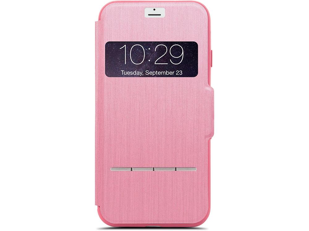 Чехол Moshi SenseCover для iPhone 7. Материал пластик/полиуретан. Цвет розовый. чехол книжка moshi sensecover для apple iphone 6 plus 6s plus