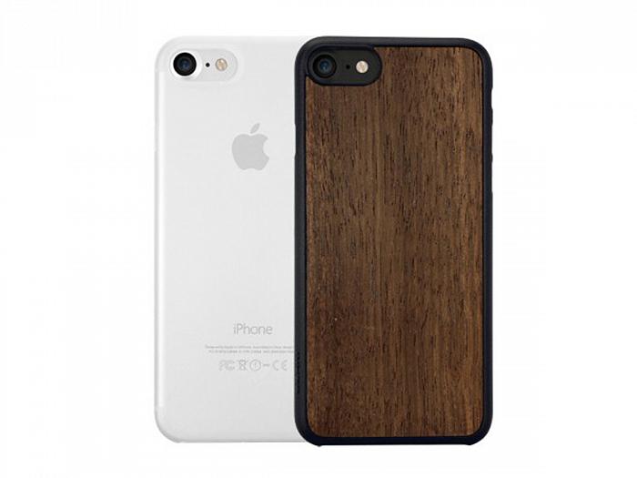 Набор чехлов Ozaki O!coat Jelly + Wood (OC721EC) для iPhone 7  Позрачный + Кориневый накладка ozaki o coat 0 4 jelly для iphone 7 plus прозрачный