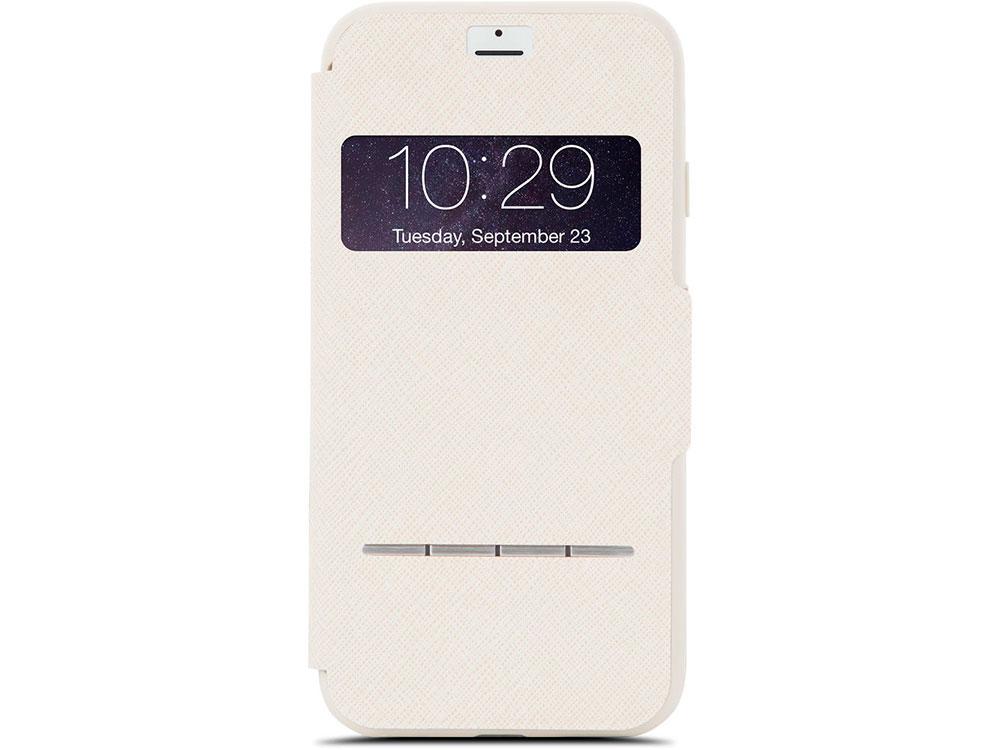 Чехол Moshi SenseCover для iPhone 7. Материал пластик/полиуретан. Цвет бежевый. чехол книжка moshi sensecover для apple iphone 6 plus 6s plus