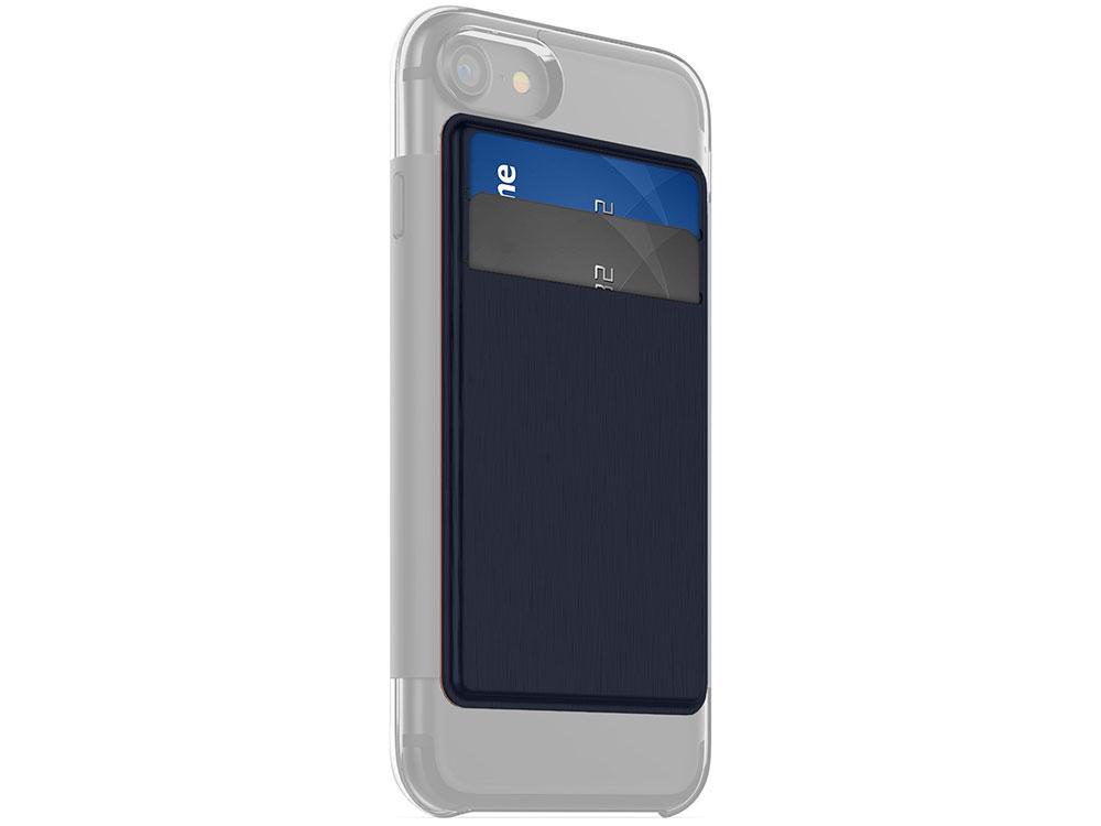 Накладка Mophie Hold Force Wallet для чехла Mophie Base Case для iPhone 7 Синий/оранжевый, Искусственная кожа/пластик чехол mophie base case wrap для iphone 7 plus материал пластик цвет синий