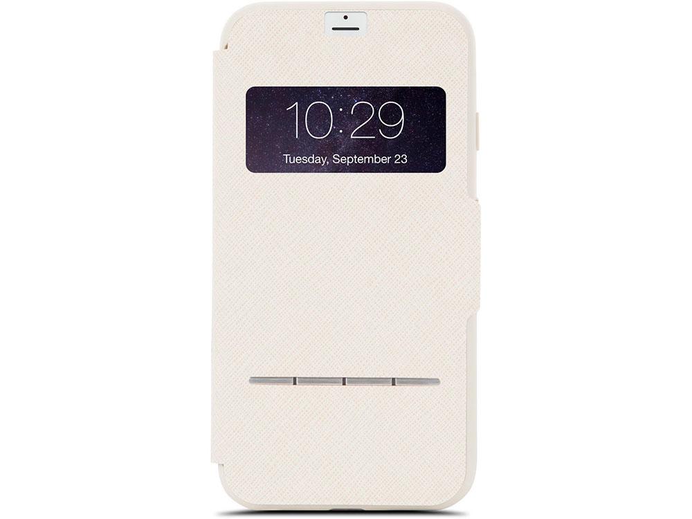 Чехол Moshi SenseCover для iPhone 7 Plus. Материал пластик/полиуретан. Цвет бежевый. чехол mophie base case wrap для iphone 7 plus материал пластик цвет синий