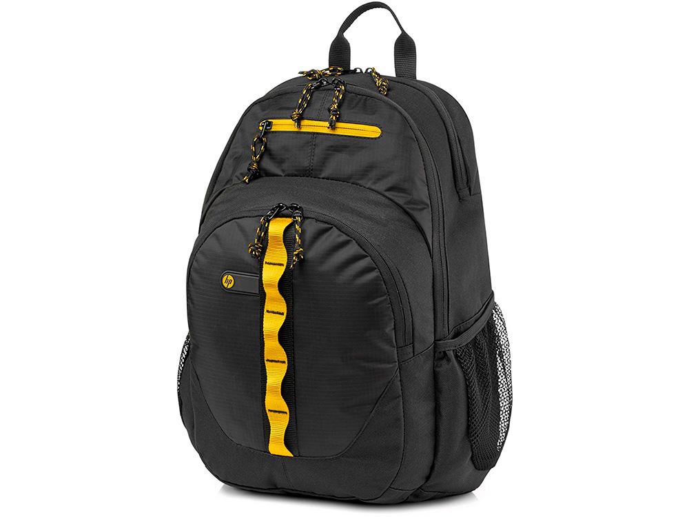 """Рюкзак для ноутбука 15.6"""" HP F3W17AA Sport Backpack черно-желтый"""